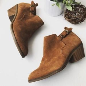 • Suede Booties • by Sonoma